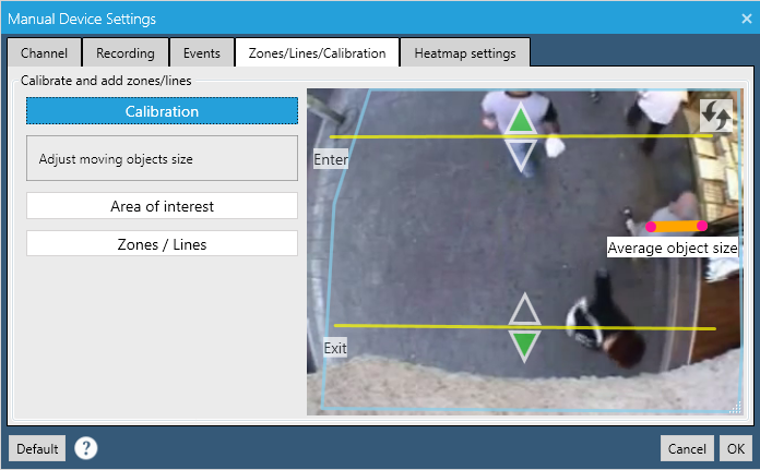 video analytics calibration